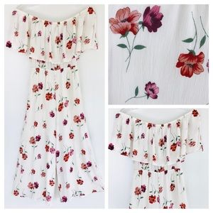 SAGE the LABEL White Floral Jumpsuit Size Small